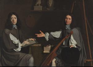 Dubbelportret van de schilders Jean-Baptiste de Champaigne en Nicolas de Plattemontagne