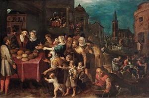 De zeven werken van Barmhartigheid (Mattheus 25: 35-36)