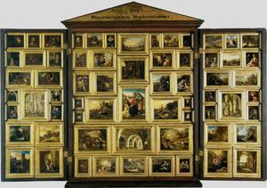 Morgenstern'sches Miniaturcabinet I met 65 miniaturen naar originele schilderijen