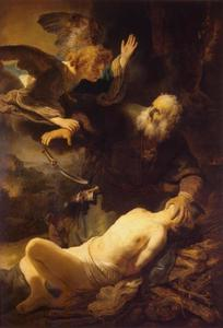 Het offer van Abraham (Genesis 22:10-12)
