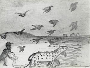 De ploeger en de vogels
