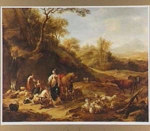 Landschap met de ontmoeting van Granida en Daifilo (uit P.C. Hooft, Granida 1:3)