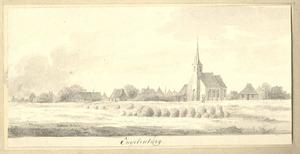 Eenigenburg, gezicht op het dorp met de kerk