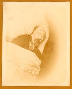 De schilder Nicolaas Pieneman op zijn sterfbed