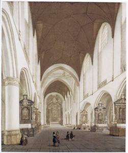 Interieur van een katholieke kerk, gebaseerd op de St. Bavo te Haarlem