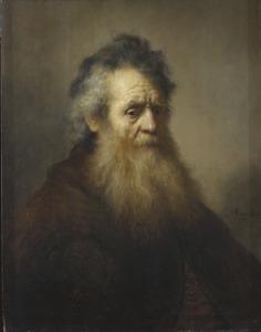 Borststuk van een oude man
