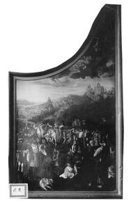 De val van Simon de Magiër (op de buitenzijde: De H. Margaretha en de draak)