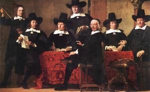 Portret van de Overlieden van het Amsterdamse Wijnkopersgilde