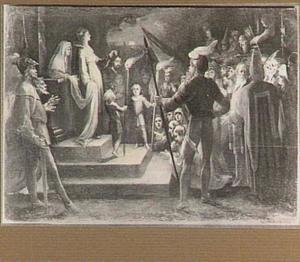 Judith toont het volk van Betulia het hoofd van Holofernes (Judith 13:12-21)