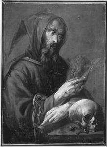 De gestigmatiseerde H. Franciscus van Assisi in contemplatie