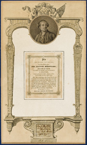 Bidprent met portret van Josephus Augustinus Brentano (1753-1821)