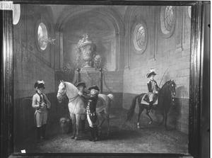 Koning Willem I (1772-1843) als erfprins met zijn broer Frederik van Oranje-Nassau (1774-1799) in de manege van het Valkhof te Nijmegen