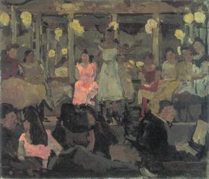 Café chantant in de Nes te Amsterdam