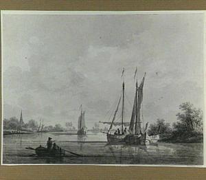 Gezicht op het dorp Kapel aan de IJssel