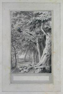 Illustratie bij 'De nachtegaal en de leeuwerik' uit de Fabelen en vertelsels van F.C. Gellert