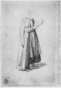 Staande vrouw, mogelijk in oosterse klederdracht