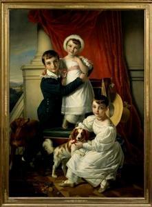 Portret van Otto d'Aumale van Romondt (1822-1883), Suzanna Cornelia Frederika van Romondt (1825-1899) en Wilhelmina Anna van Romondt (1827-1892)