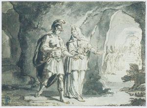 Aeneas en de sibylle dalen af in de onderwereld (Aeneas VI)