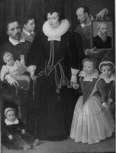 Portret van mogelijk Hieronymus Francken I (1540-1610) met zijn gezin