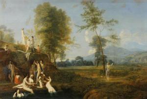 Landschap met Diana en badende nimfen