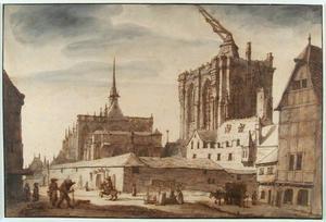 Gezicht op de Dom te Keulen, vanuit het noordwesten