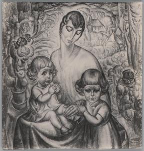 Mevrouw van der Hem en kinderen