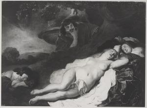 De herder Cimon bespiedt Ifigeneia en haar gezellinnen (Boccaccio, Decamerone, dag 5 nr 1)