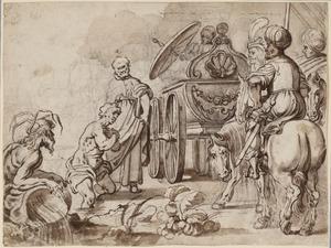 De apostel Philippus doopt de Eunuch