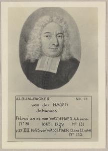 Portret van Johannes van der Hagen (1665-1739)