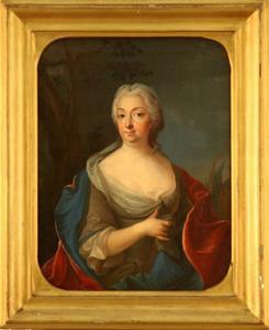 Portret van Catharina Beata von Schoting (1691-1770)