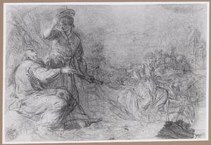 De arbeider te Gibea biedt onderdak aan de Leviet en zijn concubine