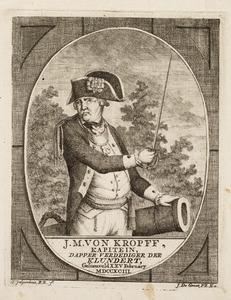 Portret van J.M. von Kropff ( -1793)