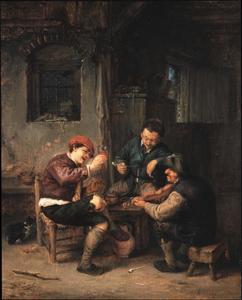 Drie boeren in een herberg