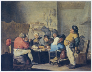 Boeren in een herberg; de Vette Keuken
