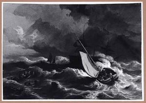 Stormachtig weer op zee
