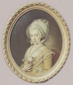 Portret van Catharina Johanna  Goll von Franckenstein (1752-1788)