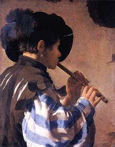 Fluitspeler (naar rechts gewend)