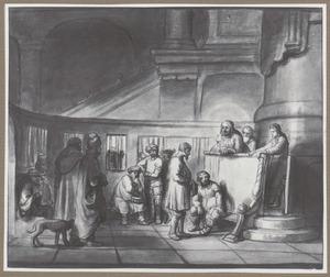 Christus geneest tijdens de Sabbat de man met de verdorde hand
