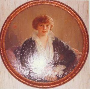 Portret van Hubertine Hermine Adrienne Jeanne de Geer (1887-1974)