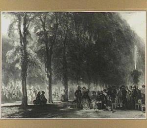 Wandeling te Versailles in de achttiende eeuw