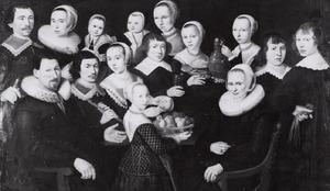 Portret van een familie, mogelijk Jager