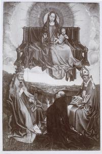 Tronende Maria met kind met de HH Petrus en Augustinus en een stichter