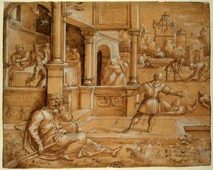 Tobias begraaft een dode en wordt tijdens het slapen blind door vogelpoep