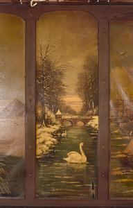 Winterlandschap met twee zwanen