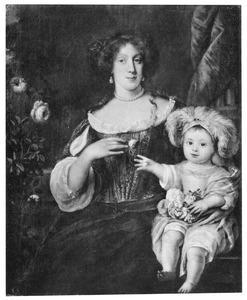 Dubbelportret van een vrouw en meisje, waarschijnlijk Maria van Berckel (1631-1706) en haar dochter