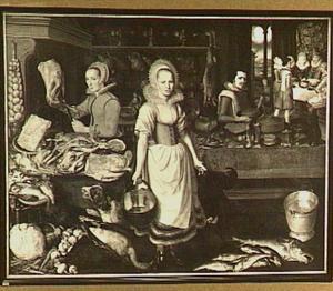 Keukeninterieur met de gelijkenis van de rijke man en de arme Lazarus
