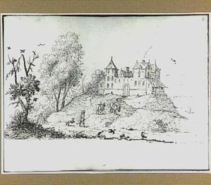 Heuvellandschap met kasteel
