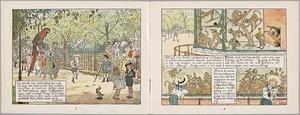 Twee pagina's uit 'De Geschiedenis van Gulzigen Tobias'