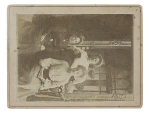 Groepsportret met Maria Sophia Louise Lanen (1872-1943)