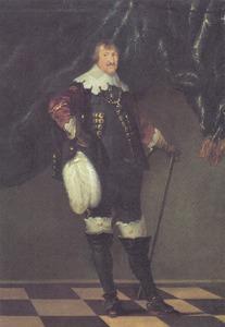 Portret van koning Christiaan IV (1577-1648) van Denemarken en Noorwegen